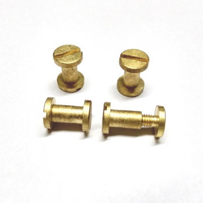 Brass Nut Bolts for Backguard (4 Sets)