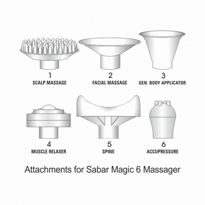 Attachments Set for Magic 6 Massager